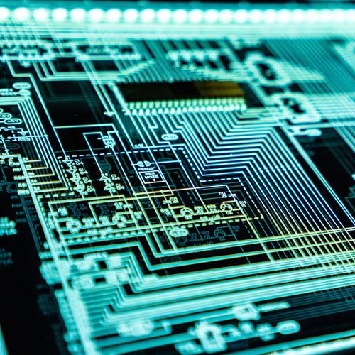 electrónica a media - customizable
